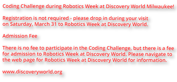 Robot Events: Coding Challenge at Robotics Week - Discovery